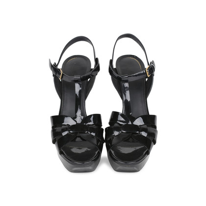 Authentic Pre Owned Yves Saint Laurent Patent Tribute Sandals (PSS-532-00004)