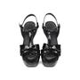 Authentic Pre Owned Yves Saint Laurent Patent Tribute Sandals (PSS-532-00004) - Thumbnail 0