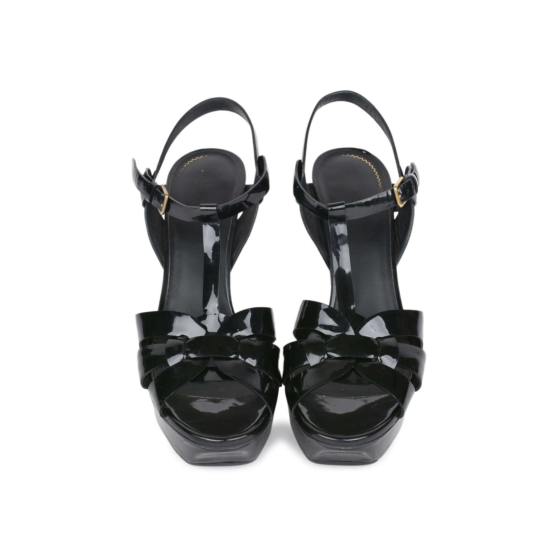 455b5536745 Authentic Second Hand Yves Saint Laurent Patent Tribute Sandals  (PSS-532-00004) - THE FIFTH COLLECTION