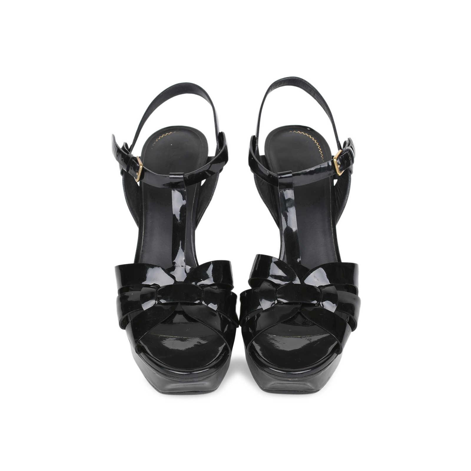 e36fc4d1c9a Authentic Second Hand Yves Saint Laurent Patent Tribute Sandals (PSS ...