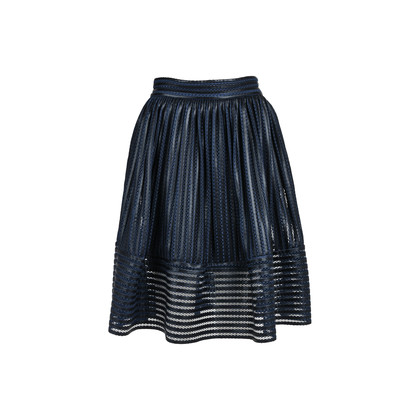 Authentic Second Hand Maje Mesh Striped Skirt (PSS-420-00057)
