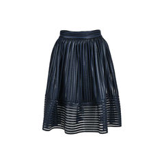 Mesh Striped Skirt