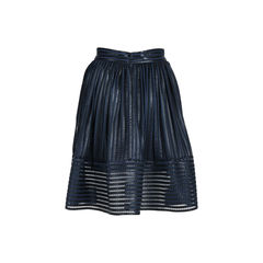 Maje mesh striped skirt 2?1533618520