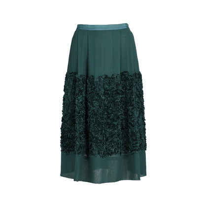 Authentic Second Hand Dries Van Noten Ruffle Appliqué Skirt (PSS-420-00059)