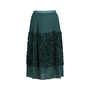Authentic Second Hand Dries Van Noten Ruffle Appliqué Skirt (PSS-420-00059) - Thumbnail 0