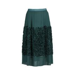Ruffle Appliqué Skirt