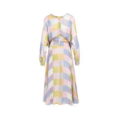 Preen by thorton bregazzi norma checked georgette dress 2?1533619269
