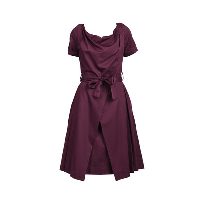 Authentic Second Hand Vivienne Westwood Anglomania Tie Waist Pleated Dress (PSS-539-00004)