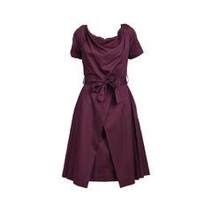 Tie Waist Pleated Dress