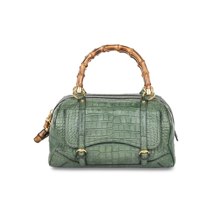 Authentic Pre Owned Gucci Crocodile Bamboo Bag (PSS-420-00065)