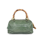 Authentic Pre Owned Gucci Crocodile Bamboo Bag (PSS-420-00065) - Thumbnail 2