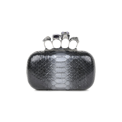 Authentic Pre Owned Alexander McQueen Python Knuckle Clutch (PSS-420-00061)