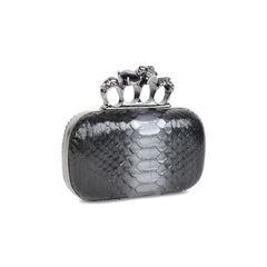 Alexander mcqueen python knuckle clutch 2?1533627708