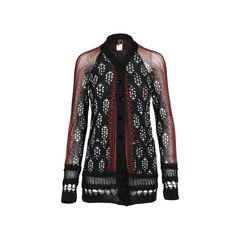 Printed Sheer Cardigan