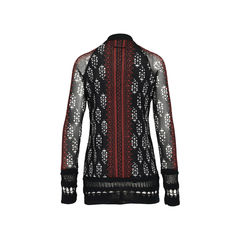 Jean paul gaultier printed sheer cardigan 2?1533711104