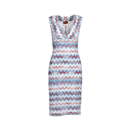 Authentic Second Hand Missoni Chevron Knit Dress (PSS-493-00018)