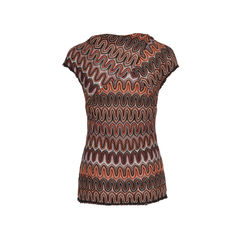 Missoni crochet knit top red 2?1533712501