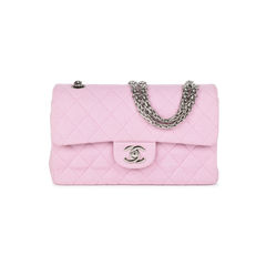 Baby Pink Jersey Small Classic Flap Bag