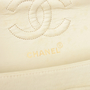 Authentic Pre Owned Chanel Cream Jersey Small Classic Flap Bag (PSS-051-00377) - Thumbnail 5