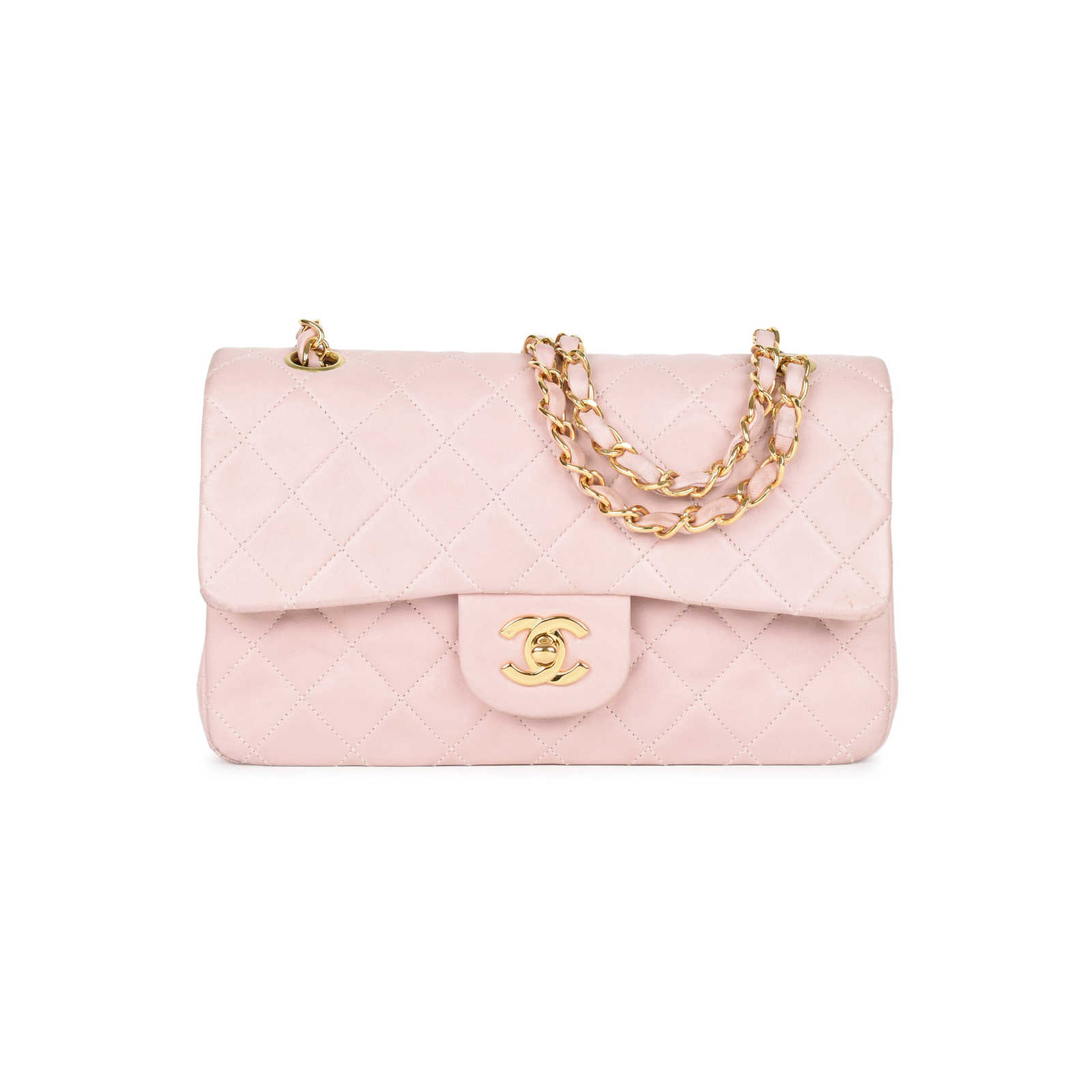 9a92e7e68b Authentic Second Hand Chanel Baby Pink Small Classic Flap Bag (PSS ...