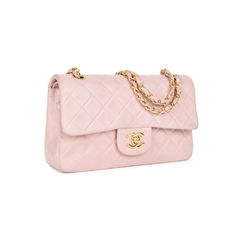 Chanel baby pink small classic flap bag 2?1533891061