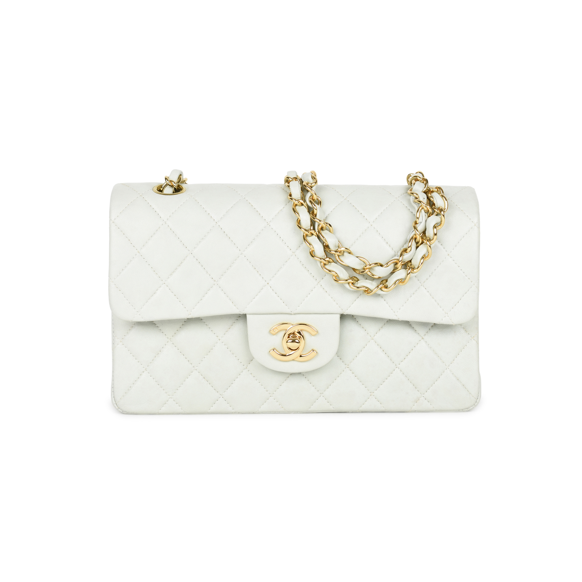 e0d0c68304379d Authentic Second Hand Chanel Mint Green Small Classic Flap (PSS-051-00382)  | THE FIFTH COLLECTION