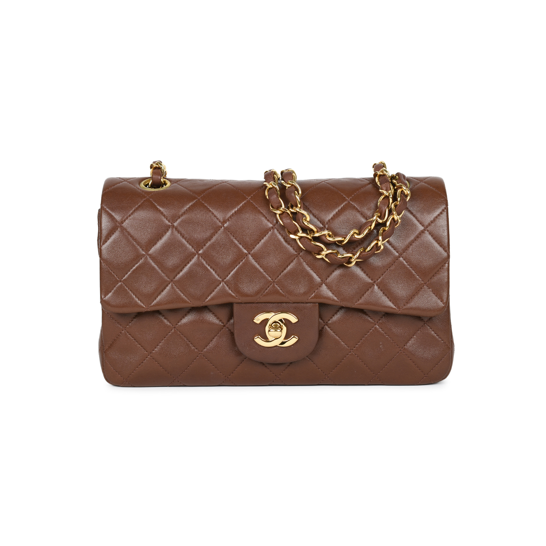 Authentic Second Hand Chanel Brown Small Classic Flap Bag (PSS-051-00378)  a26c2ac1089ab