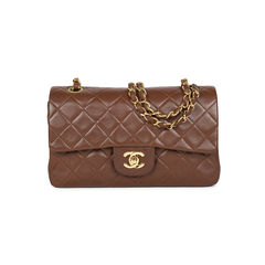 Brown Small Classic Flap Bag