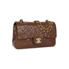 Chanel brown small classic flap bag 2?1533891141