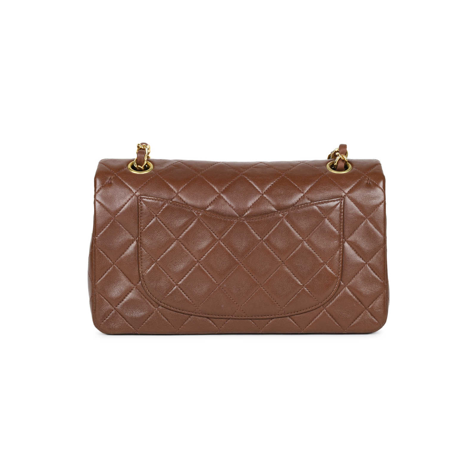 2bbe46fe9733a6 ... Authentic Second Hand Chanel Brown Small Classic Flap Bag  (PSS-051-00378) ...
