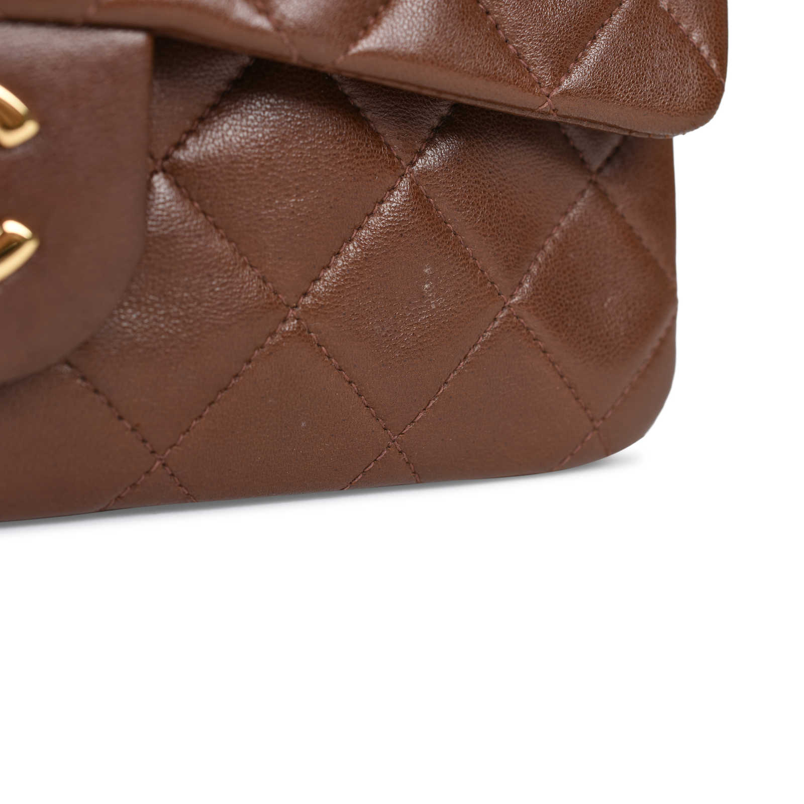 e724cc46af15 ... Authentic Second Hand Chanel Brown Small Classic Flap Bag  (PSS-051-00378) ...