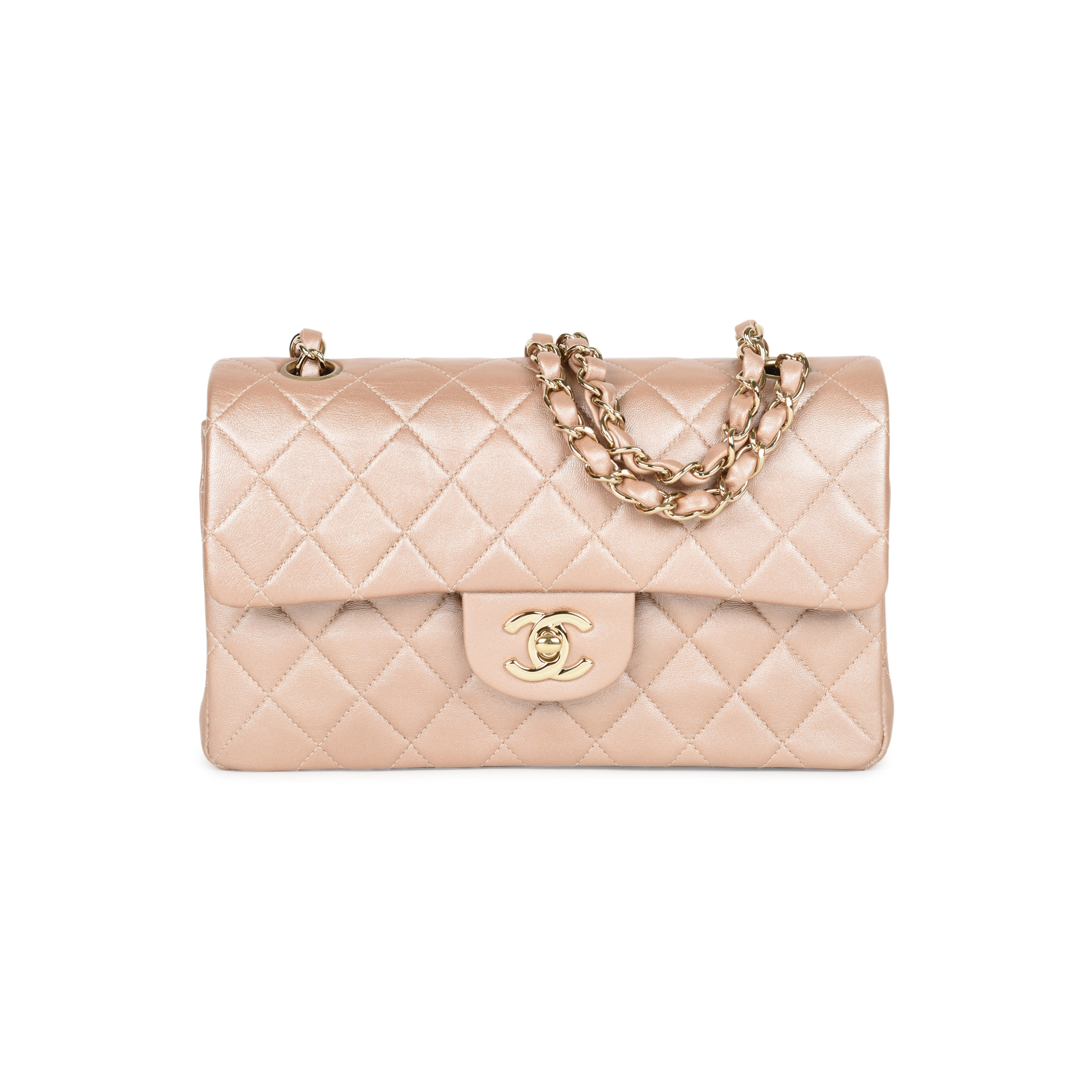 Authentic Second Hand Chanel Rose Gold Small Classic Flap (PSS-051-00373)  33b767478a4e9