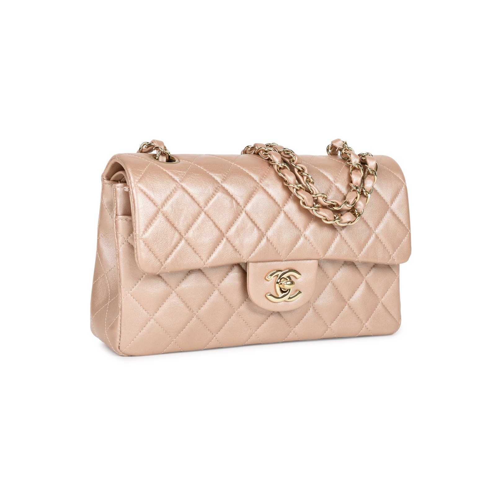 99bfdcf423ce ... Authentic Second Hand Chanel Rose Gold Small Classic Flap  (PSS-051-00373) ...