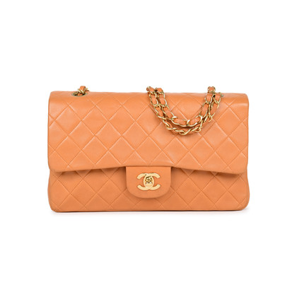 Authentic Pre Owned Chanel Orange Medium Classic Flap Bag (PSS-051-00380)