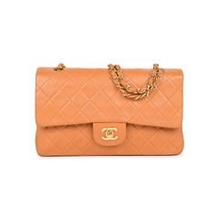 Orange Medium Classic Flap Bag