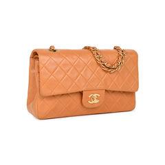 Chanel orange medium classic flap bag 2?1533891220