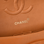 Authentic Pre Owned Chanel Orange Medium Classic Flap Bag (PSS-051-00380) - Thumbnail 5