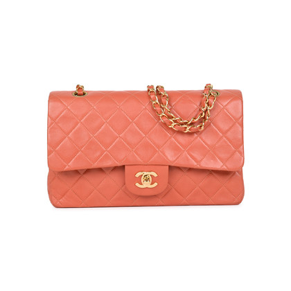 Authentic Pre Owned Chanel Coral Medium Classic Flap (PSS-051-00383)