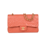 Authentic Pre Owned Chanel Coral Medium Classic Flap (PSS-051-00383) - Thumbnail 0