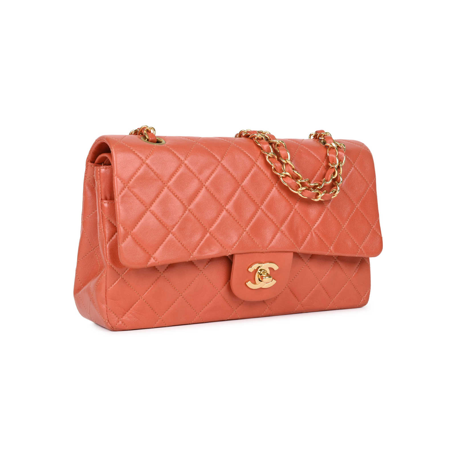 ... Authentic Pre Owned Chanel Coral Medium Classic Flap (PSS-051-00383) ... d3c7b9bc9a8ef