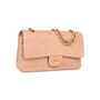 Authentic Second Hand Chanel Blush Pink Medium Classic Flap (PSS-051-00376) - Thumbnail 1
