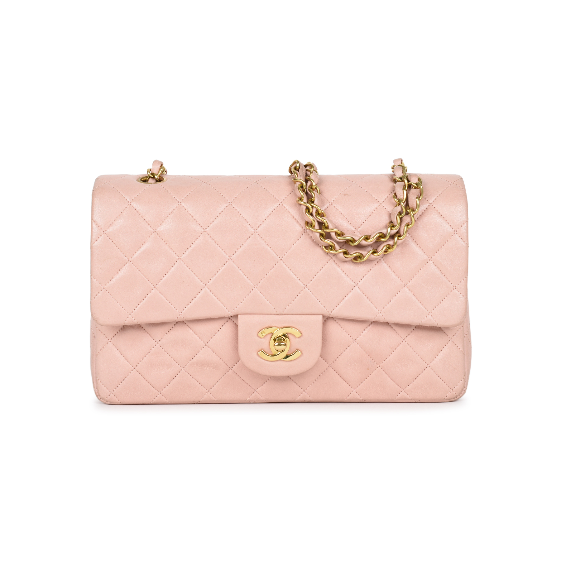 e735594a5426 Authentic Vintage Chanel Light Dusty Rose Medium Classic Flap  (PSS-051-00385)