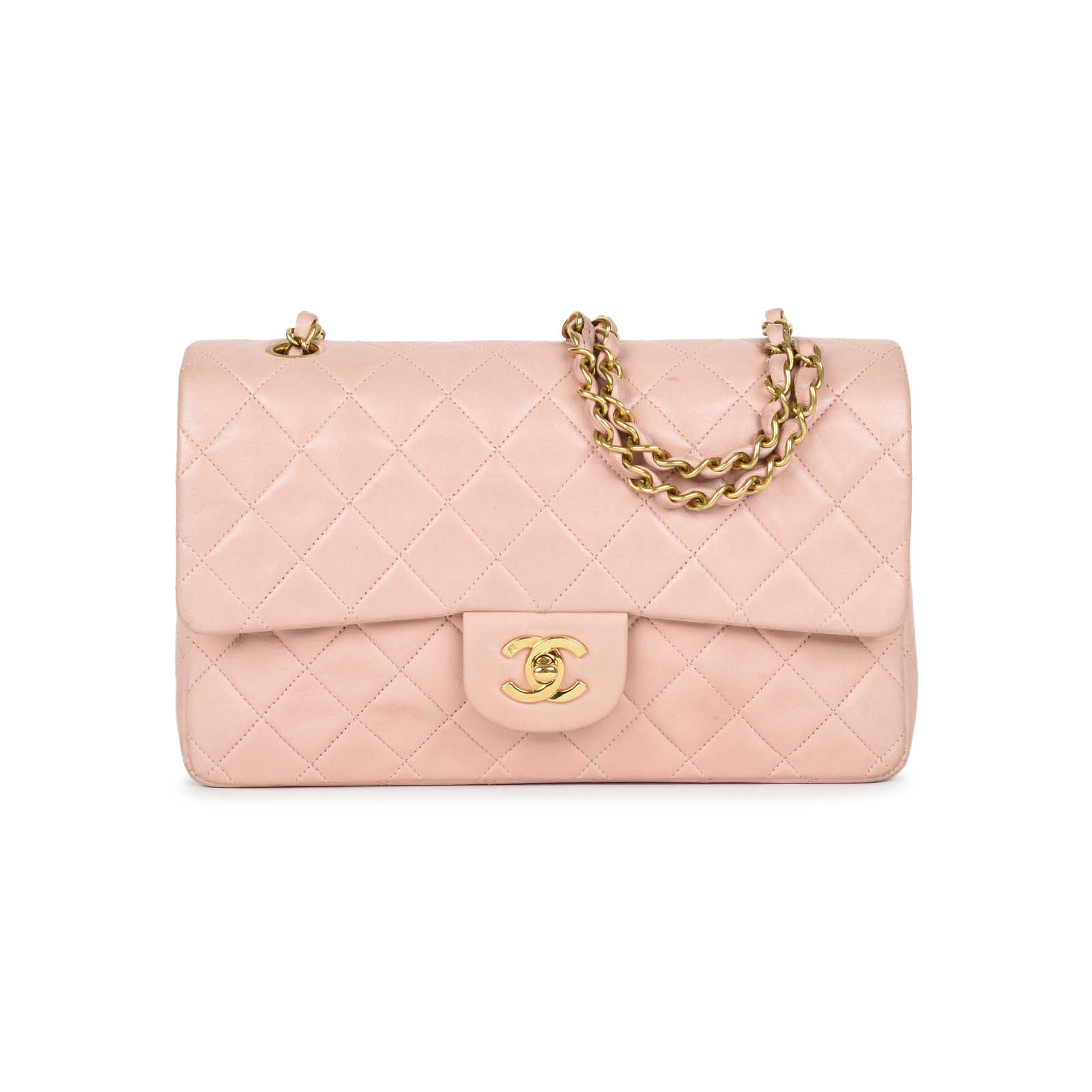 9deaff5fb4f0 Authentic Vintage Chanel Light Dusty Rose Medium Classic Flap  (PSS-051-00385) ...