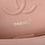 Authentic Vintage Chanel Light Dusty Rose Medium Classic Flap (PSS-051-00385) - Thumbnail 5