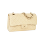 Authentic Pre Owned Chanel Cream Medium Classic Flap Bag (PSS-051-00381) - Thumbnail 1