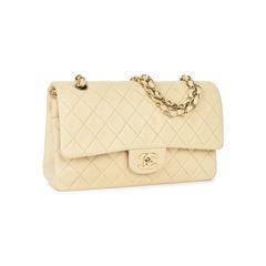 Chanel cream medium classic flap bag 2?1533891441