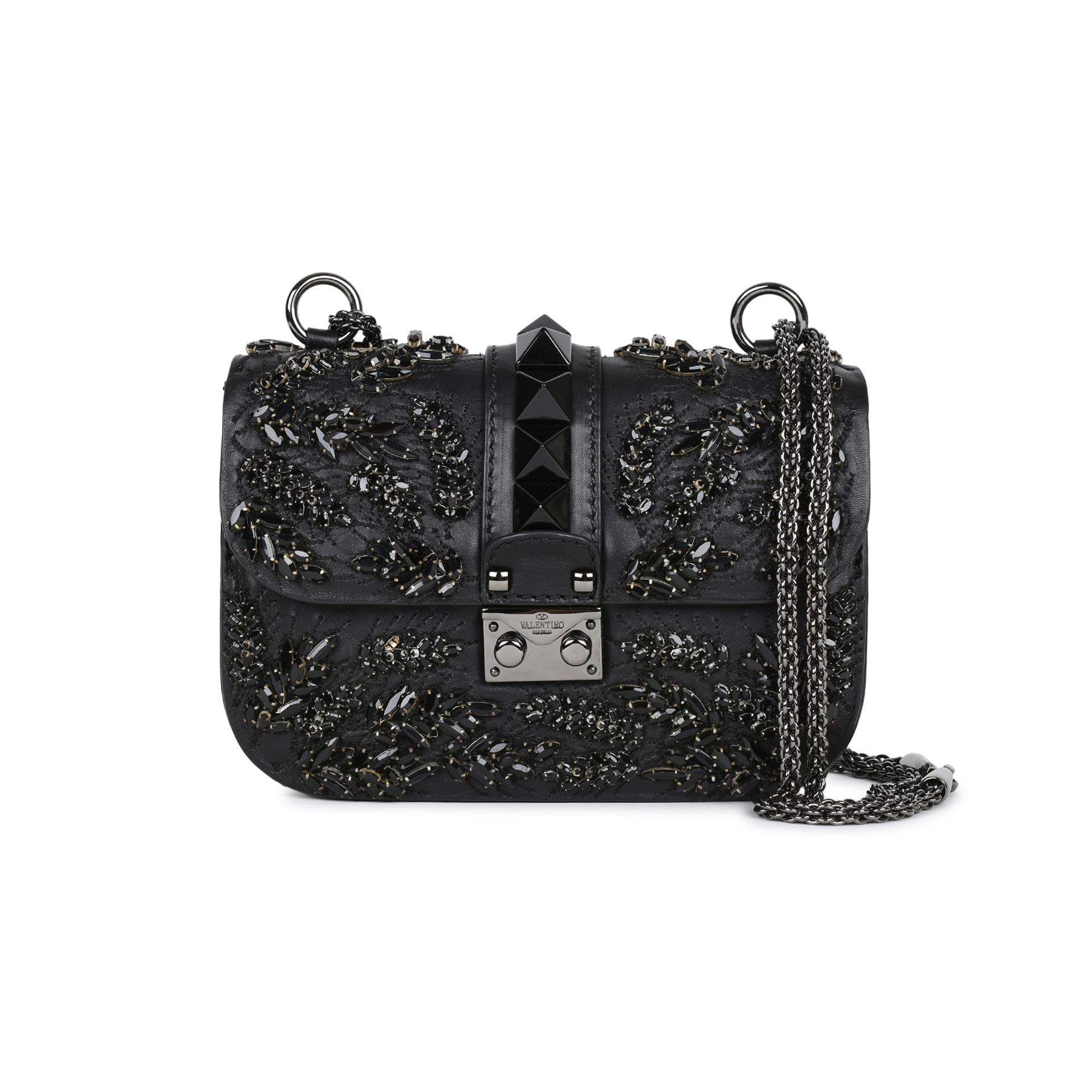 3239eec8a2 Authentic Second Hand Valentino Rockstud Lock Embellished Small Shoulder  Bag (PSS-051-00389) - THE FIFTH COLLECTION