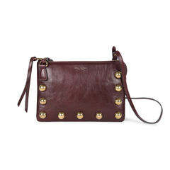 Gold Stud Leather Crossbody Bag