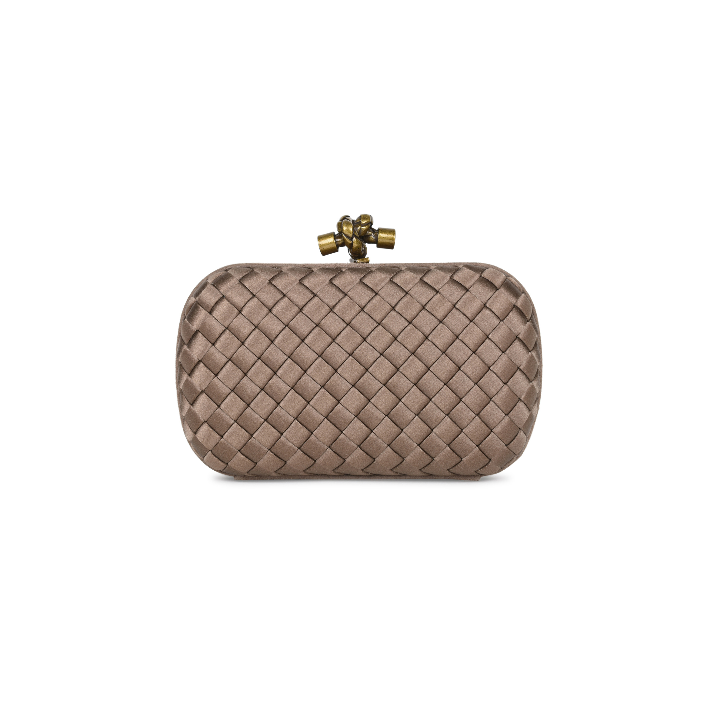 5c2b87cdb4 Authentic Second Hand Bottega Veneta Satin Knot Clutch (PSS-540-00002)