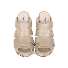 Crocodile Embossed Lia Sandals